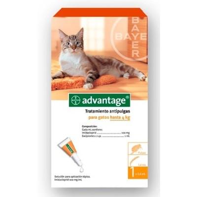 PIPETA ADVANTAGE GATO 1.5 A 4 KG Advantage Antipulgas y Garrapatas