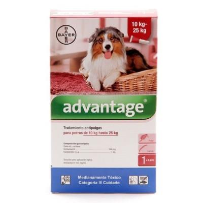 PIPETA ADVANTAGE PERRO 10 A 25 KG Advantage Antipulgas y Garrapatas