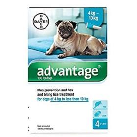 PIPETA ADVANTAGE PERRO  4 A 10 KG Advantage Antipulgas y Garrapatas