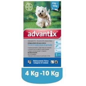 PIPETA ADVANTIX PERROS  4 A 10 KG Advantix Antipulgas y Garrapatas