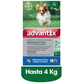PIPETA ADVANTIX PERROS  1.5 A 4 KG Advantix 33010076