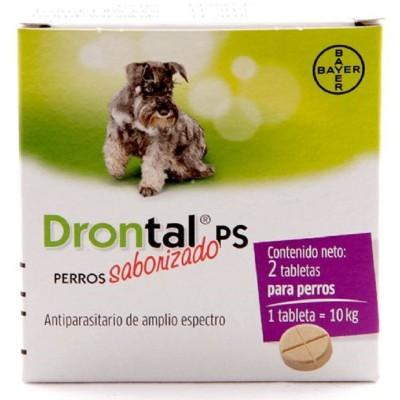 DRONTAL DESPARASITANTE PERROS MEDIANOS 2 TBL. Drontal Desparasitantes / Antiparasitarios