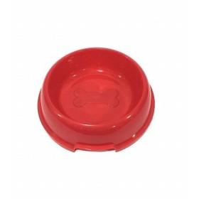PLATO PLASTICO PARA MASCOTA JZ2014032 21.5cm ROJO  JZ2014032