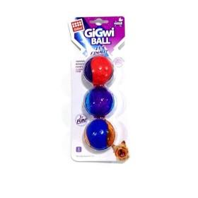 JUGUETE MASCOTA GIGWI SQUEAK BALL SMALL X 3 COD. 6409 GiGwi Juguetes