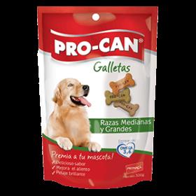 PROCAN GALLETAS ADULTO RAZA MEDIANTE Y GRANDE 300 GR Procan Snacks