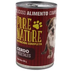 PURE NATURE PERRO CERDO Y VEGETALES 400G Varias  Húmedos