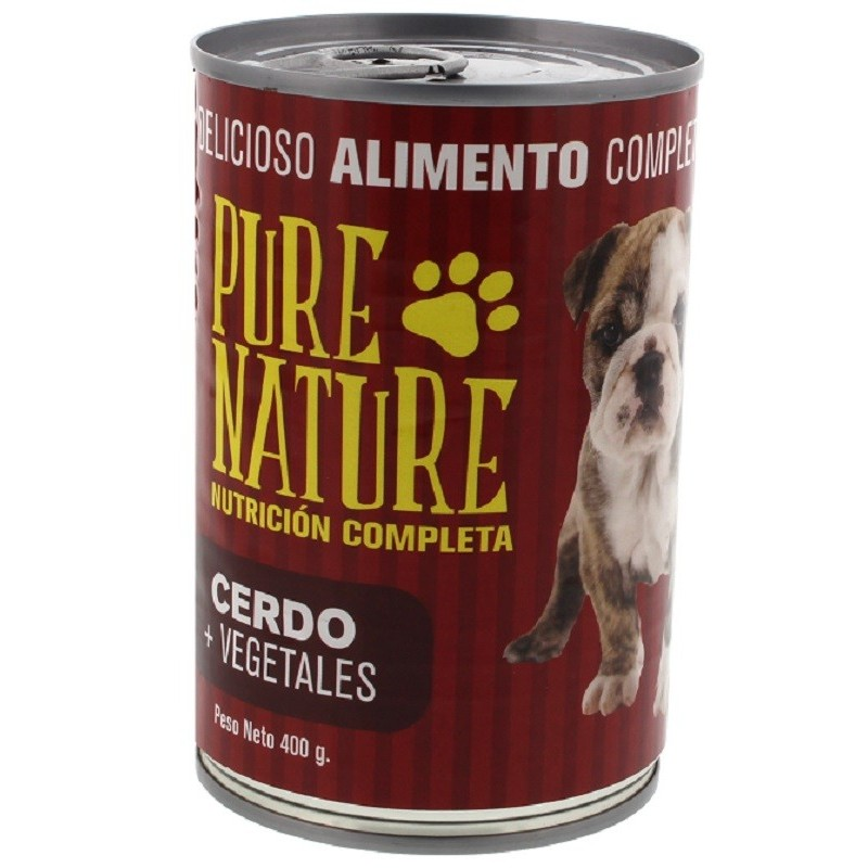 PURE NATURE PERRO CERDO Y VEGETALES 400G  7862120440066-A