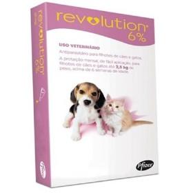 PIPETA REVOLUTION 2.5 KG 0.25 ML ( 6%) UNI ROSADA Revolution Antipulgas y Garrapatas