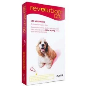 PIPETA REVOLUTION 10 A 20 KG 1 ML (12%) UNI ROJA Revolution Antipulgas y Garrapatas