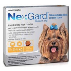 TABLETA NEXGARD PERROS 2 A  4 KG Nexgard Antipulgas y Garrapatas