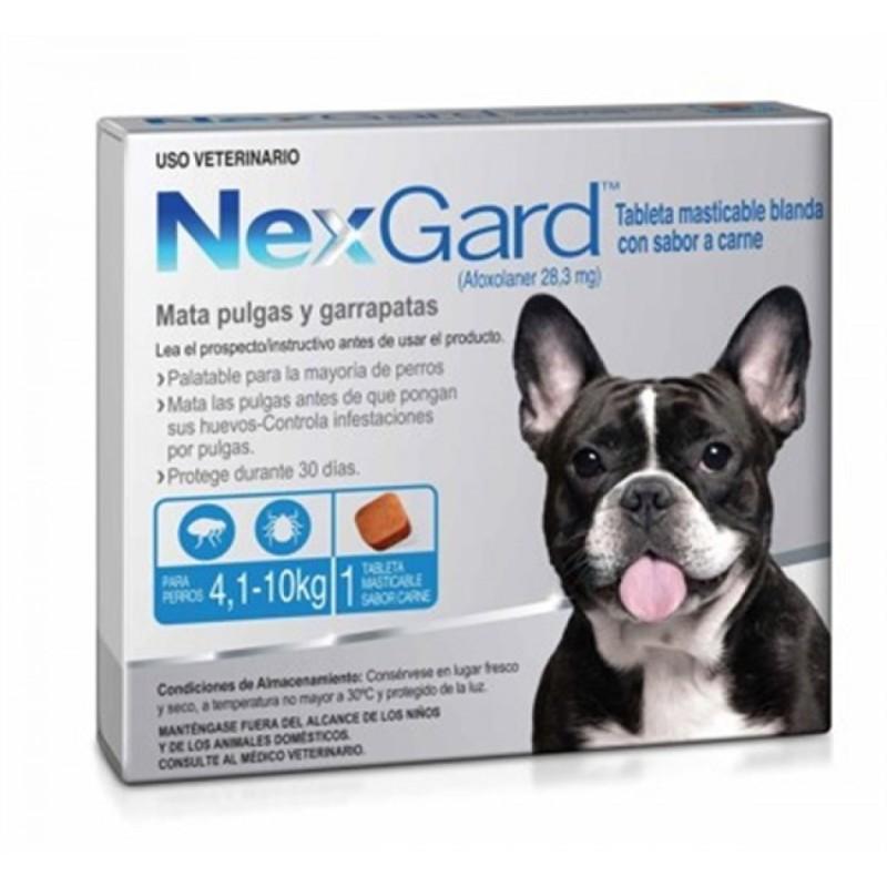 TABLETA NEXGARD PERROS 4 A 10 KG Nexgard 1003017