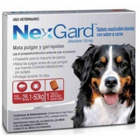 TABLETA NEXGARD PERROS 25 A 50 KG Nexgard Antipulgas y Garrapatas